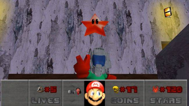 Mario 64 is Doom now, thanks to this mod