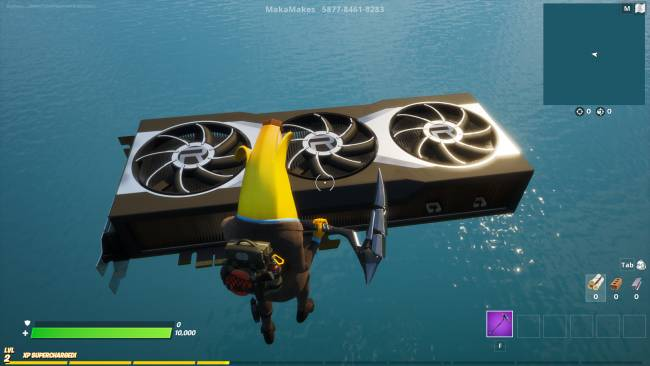 This is what AMD's RX 6000 series GPU looks like in *checks notes* Fortnite