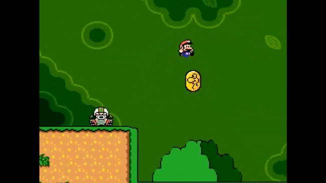 Here's Super Mario World running on a PC from the 1980s