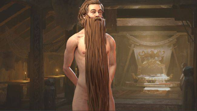 With this wizard beard mod there's no need for clothes in Crusader Kings 3
