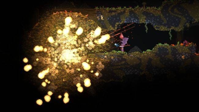 The explosive wizard roguelike Noita is leaving Early Access next month
