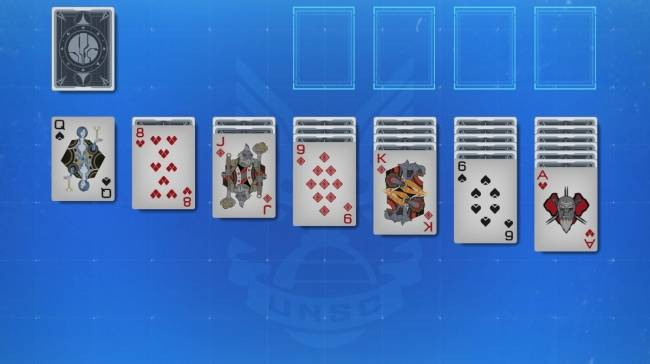 Solitaire now has a Halo theme